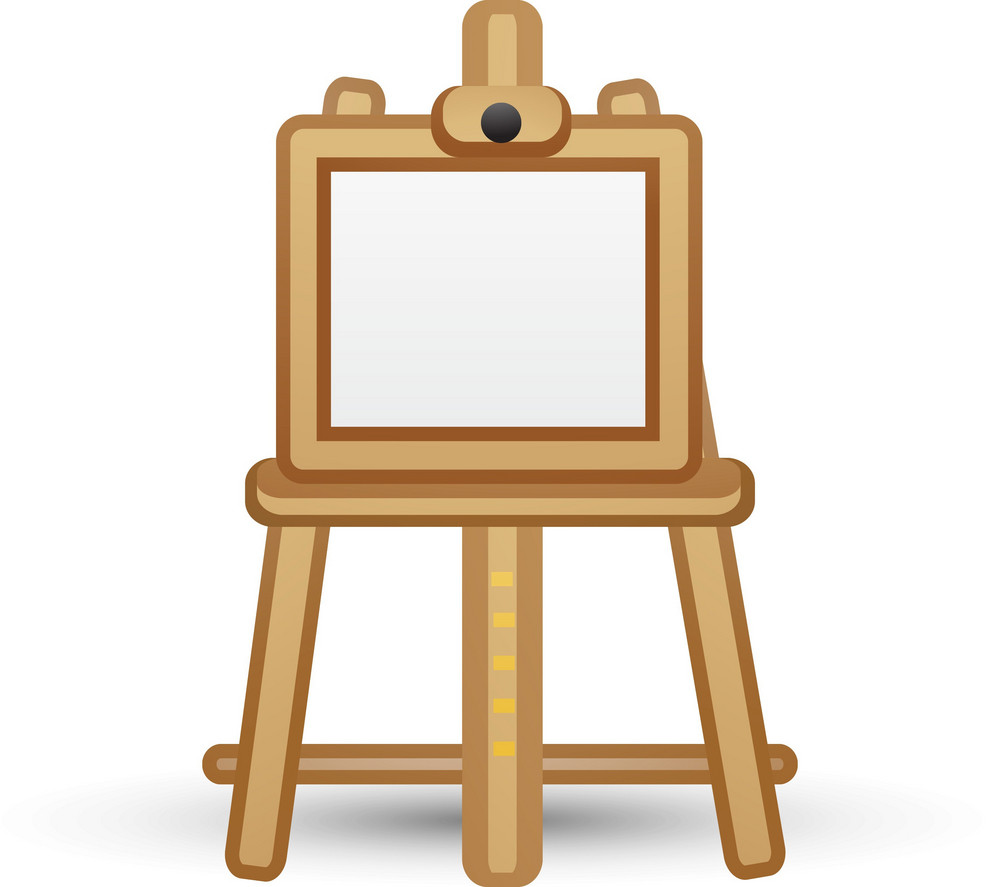 Blank Canvas On Easel Lite Art Icon