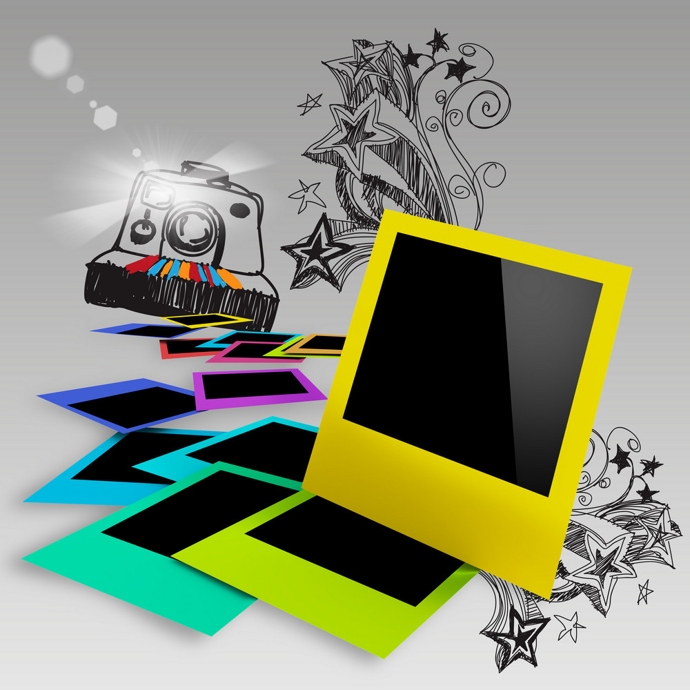 Blank Colorful Photo Frames