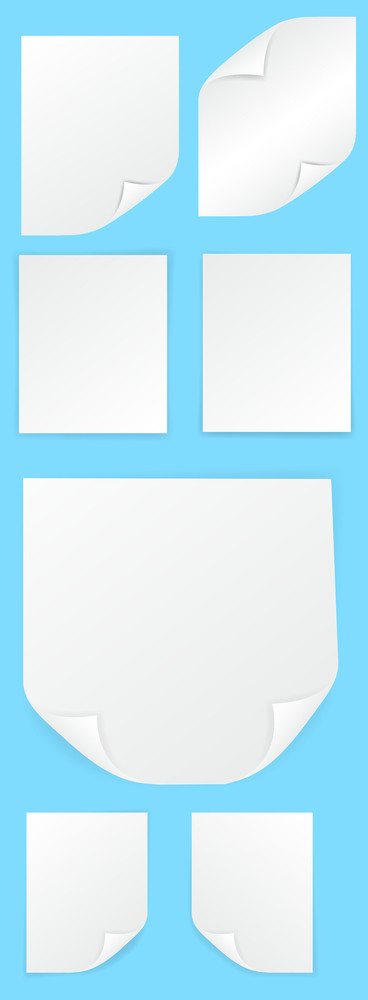 Blank Curled Paper Box Vectors