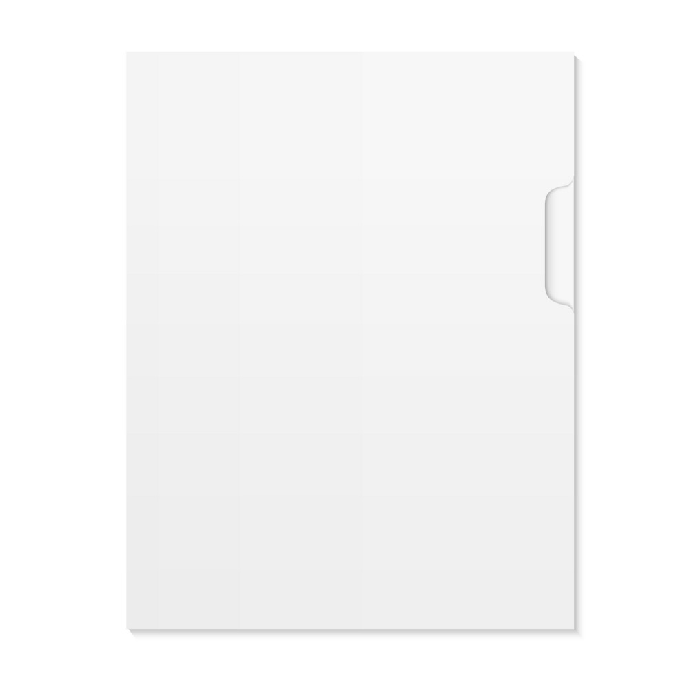 Blank Document And Folder Isolated On White