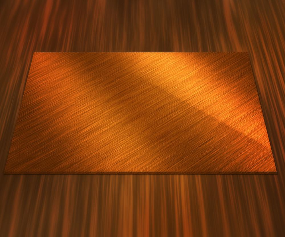 Blank Golden Plate Background