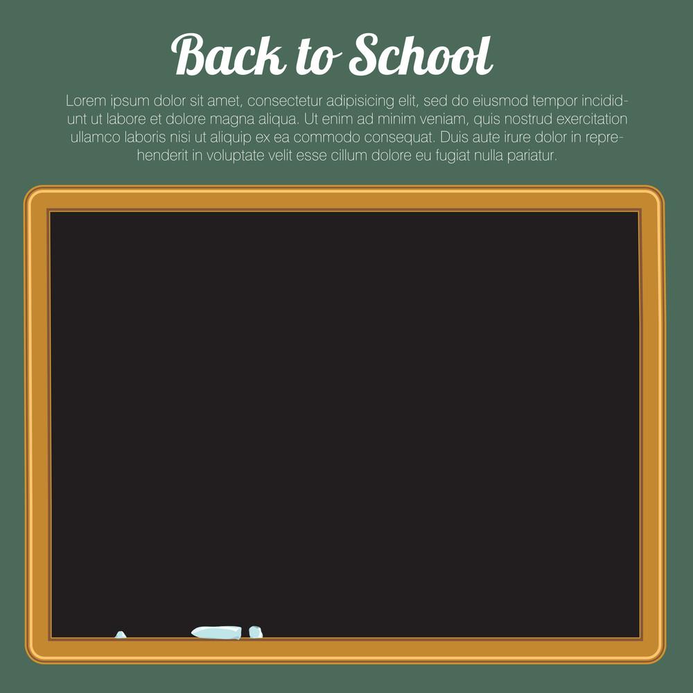 blank green chalkboard blackboard vector back to school background