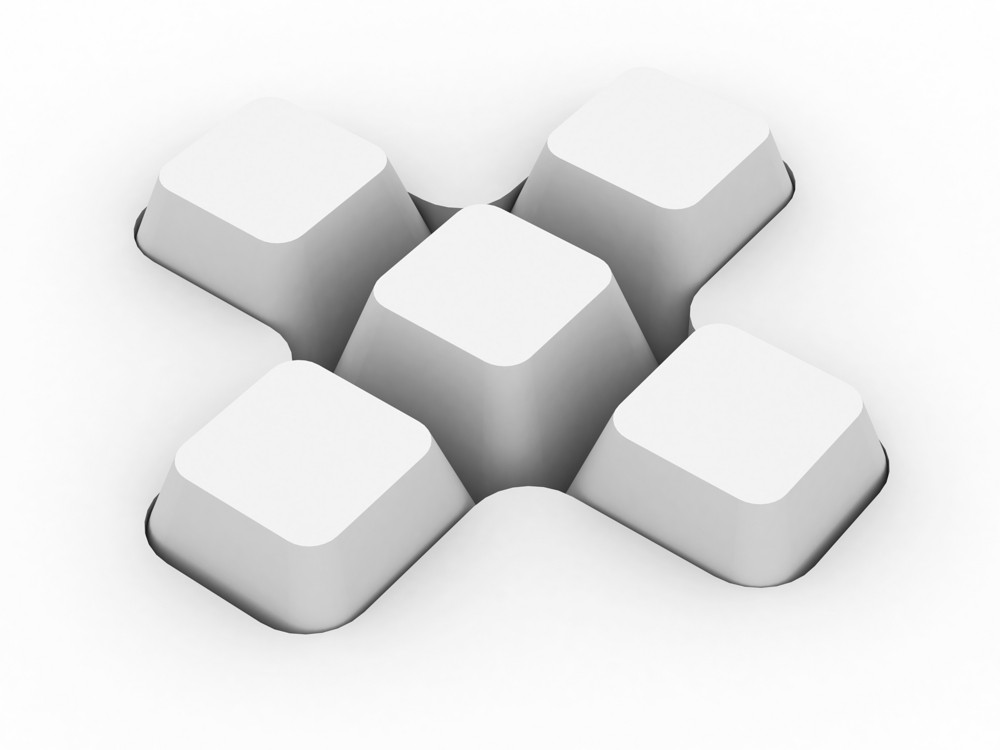 Blank Keyboard Buttons