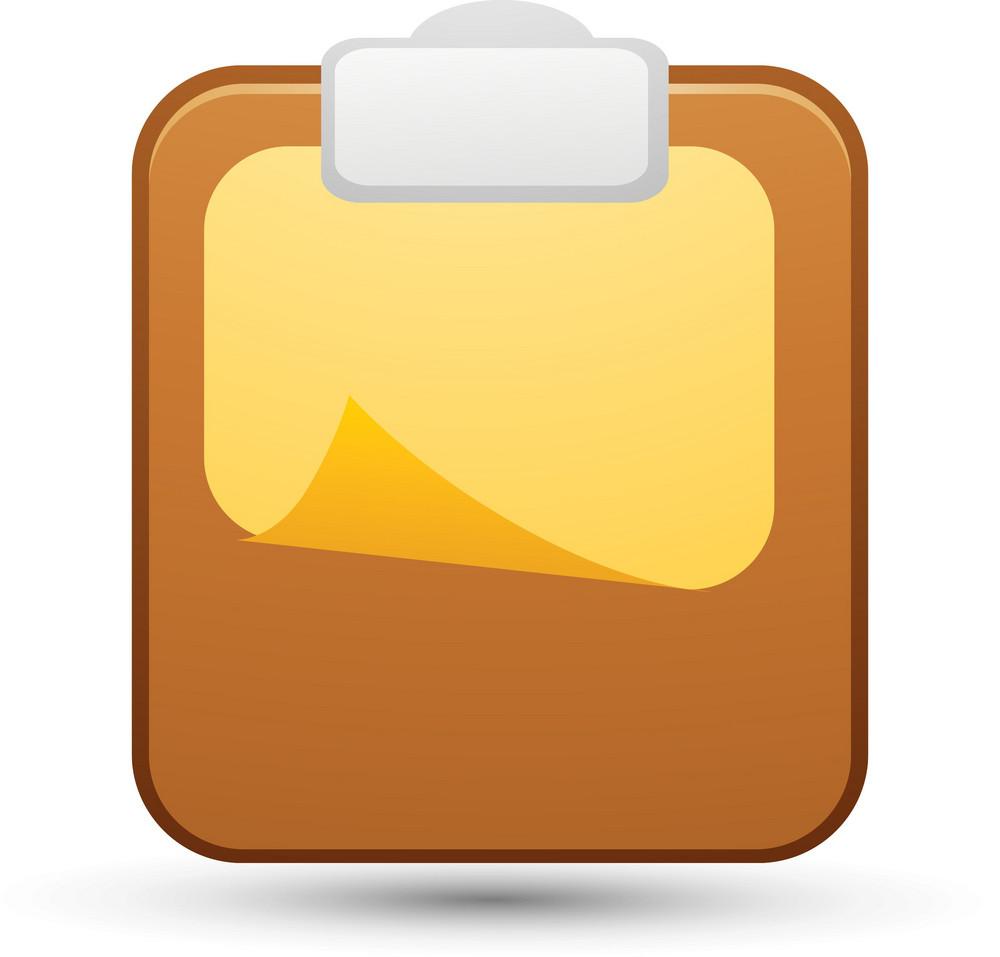 Blank Paper On Clipboard Lite Art Icon
