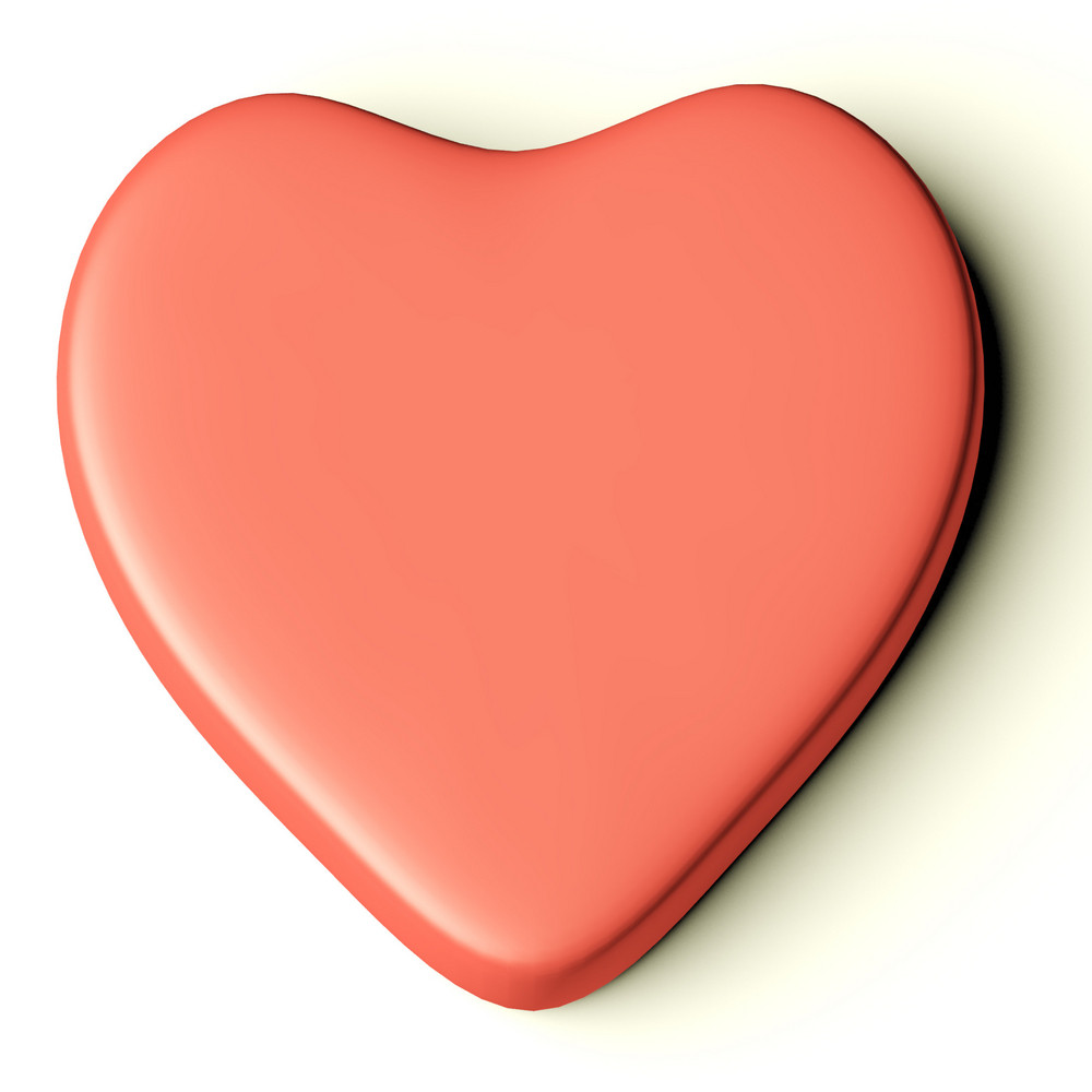 Blank Pink Heart As Symbol For Valentines Day