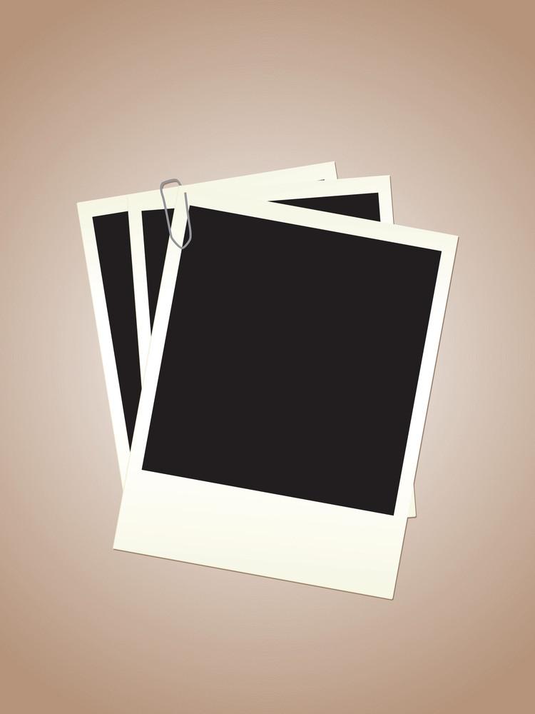 Blank Polaroid Photos Vector Illustration