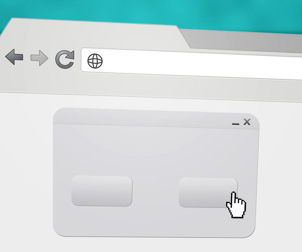 Blank Pop-up Window In Web Browser