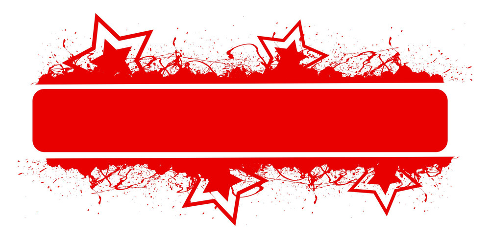 Blank Red Banner Vector