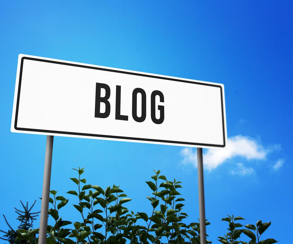 Blog On Road Sign