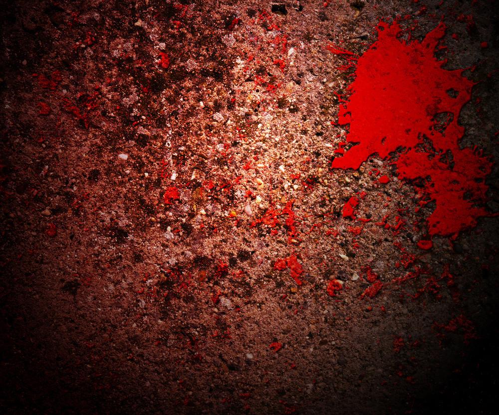 Blood On Grunge Texture