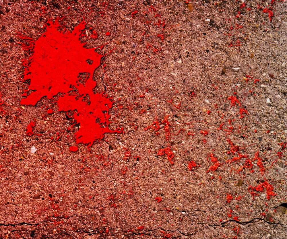 Blood On Grunge Wall Background