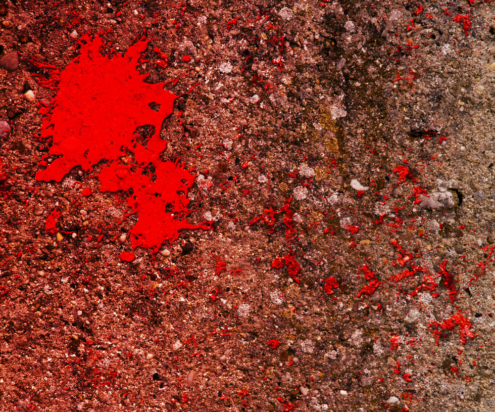 Blood On Grunge Wall Texture