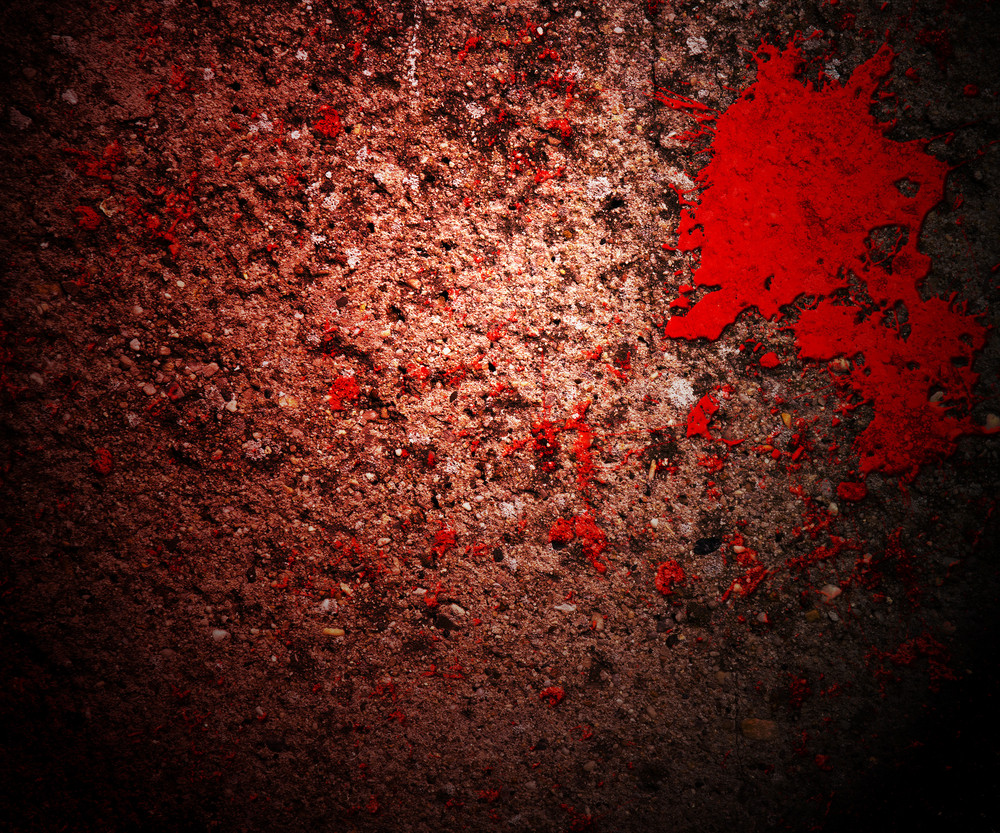 Blood On Grunge Wall