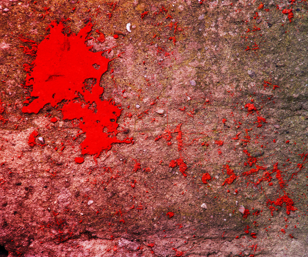 Blood On Grunge Wall