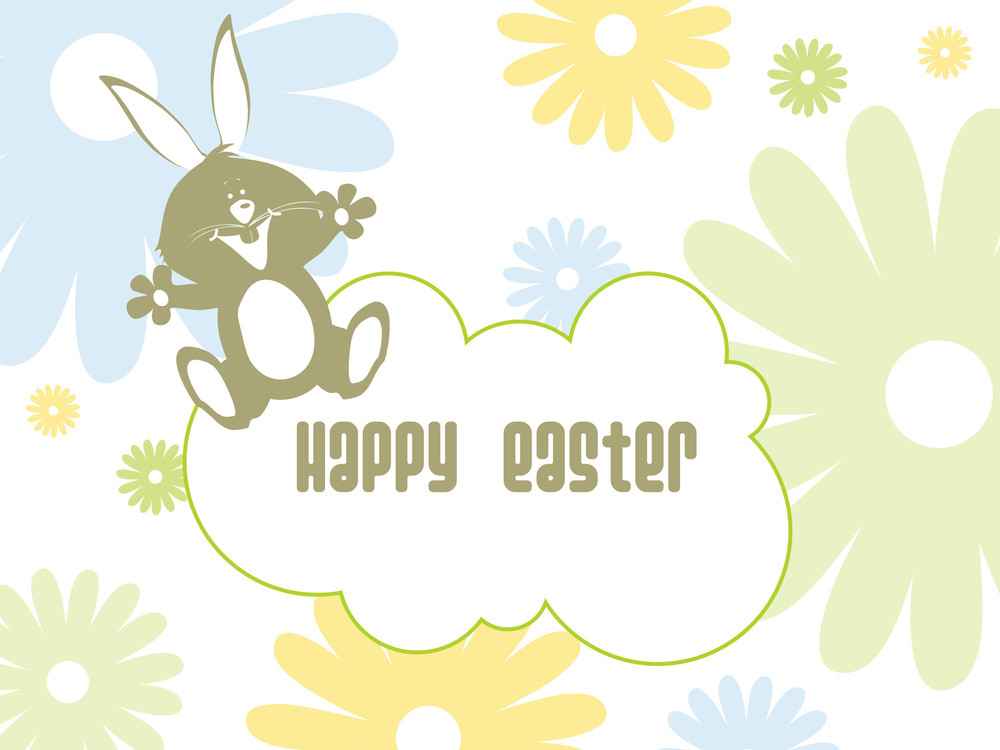 Blossoms Background With Rabbit
