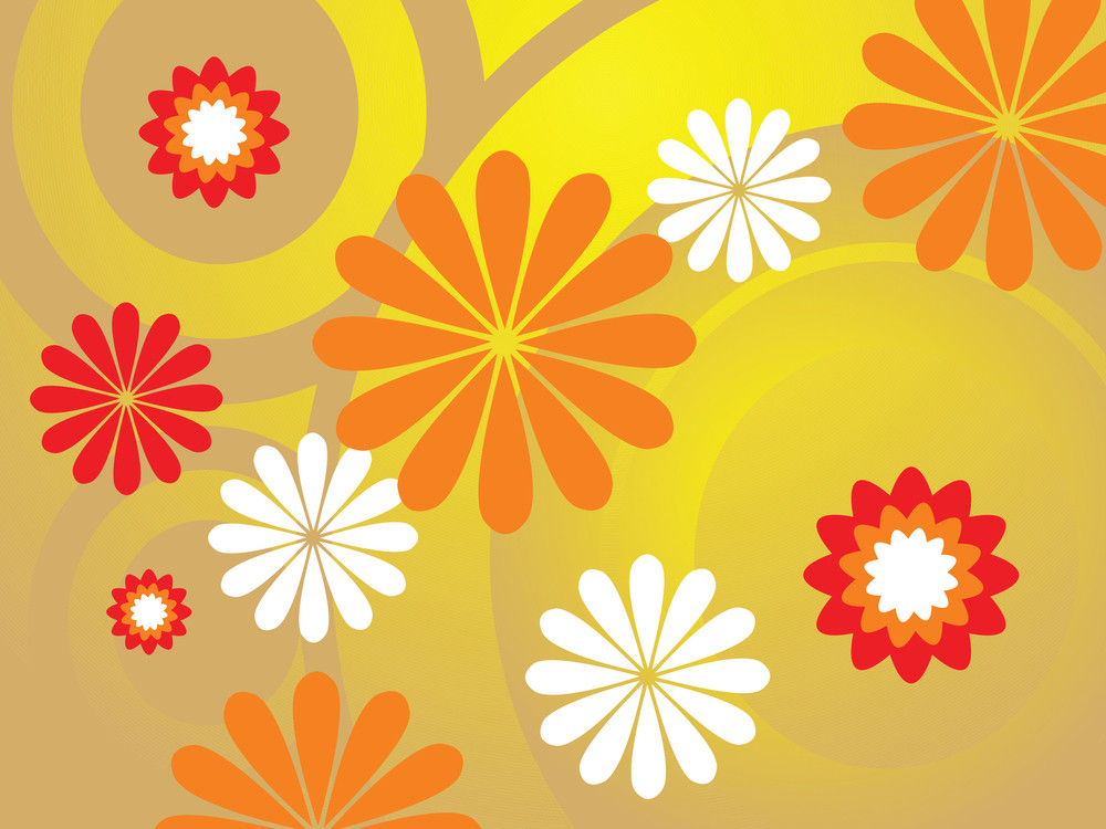 Blossoms With Yellow Background