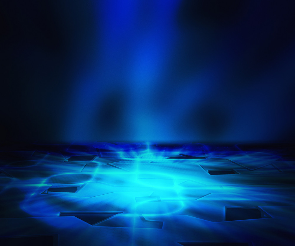 Blue Abstract Floor Background