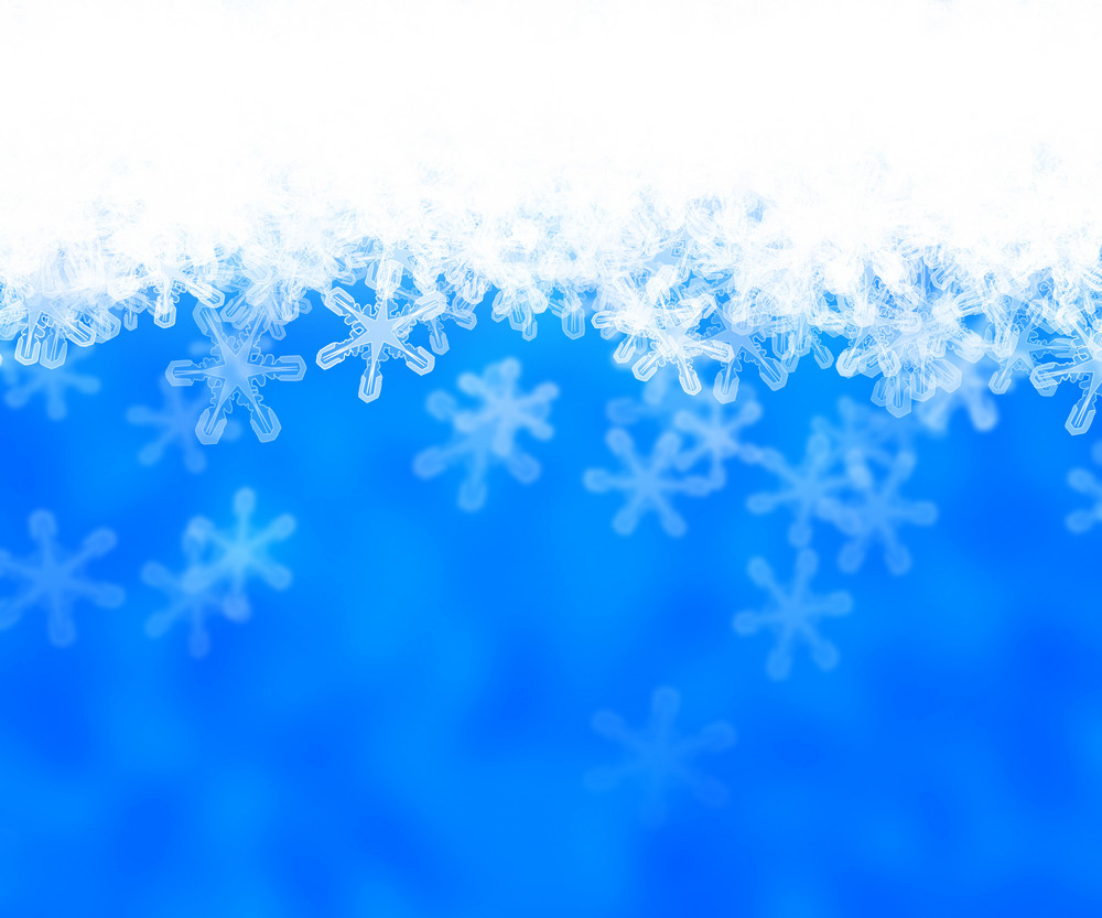 Blue Abstract Snow Background