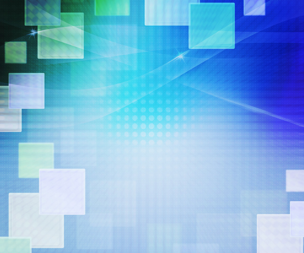 Blue Abstract Squares Background