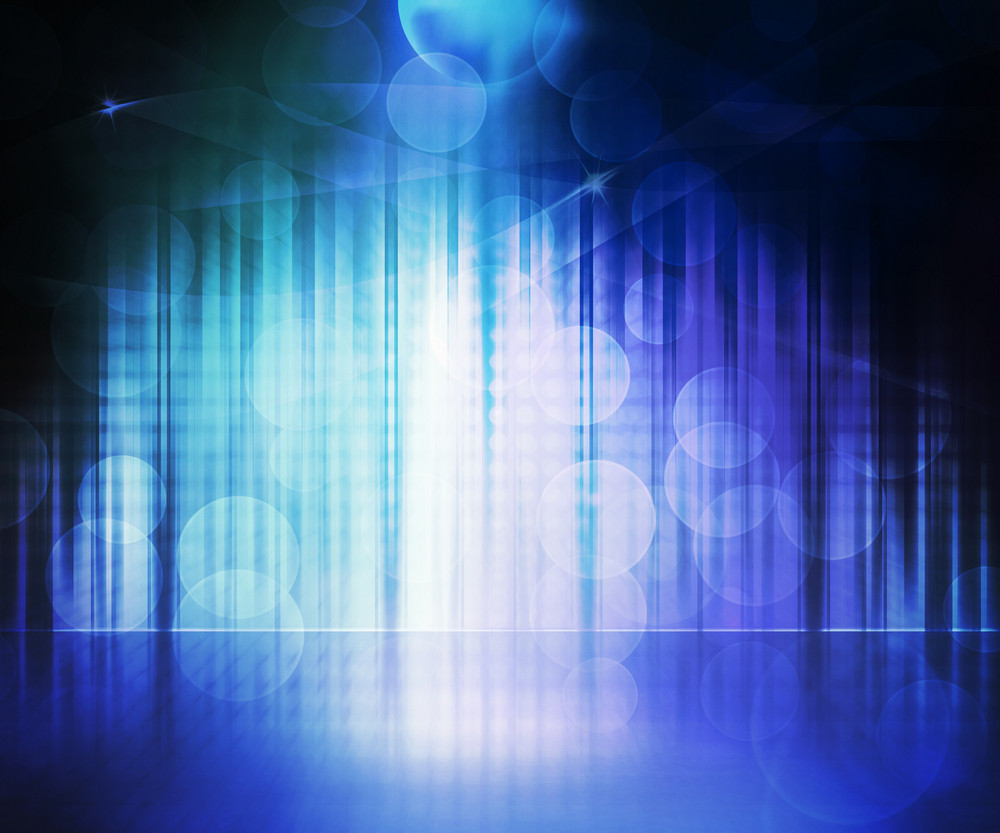 Blue Abstract Stage Background
