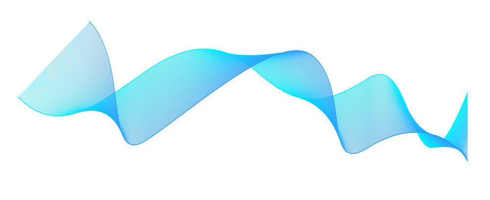 Blue Abstract Wave Lines