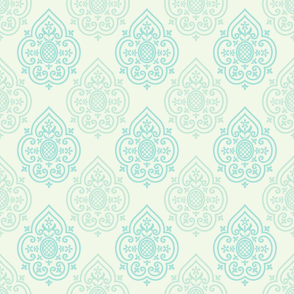 Blue And Grey Decorative Spades Pattern