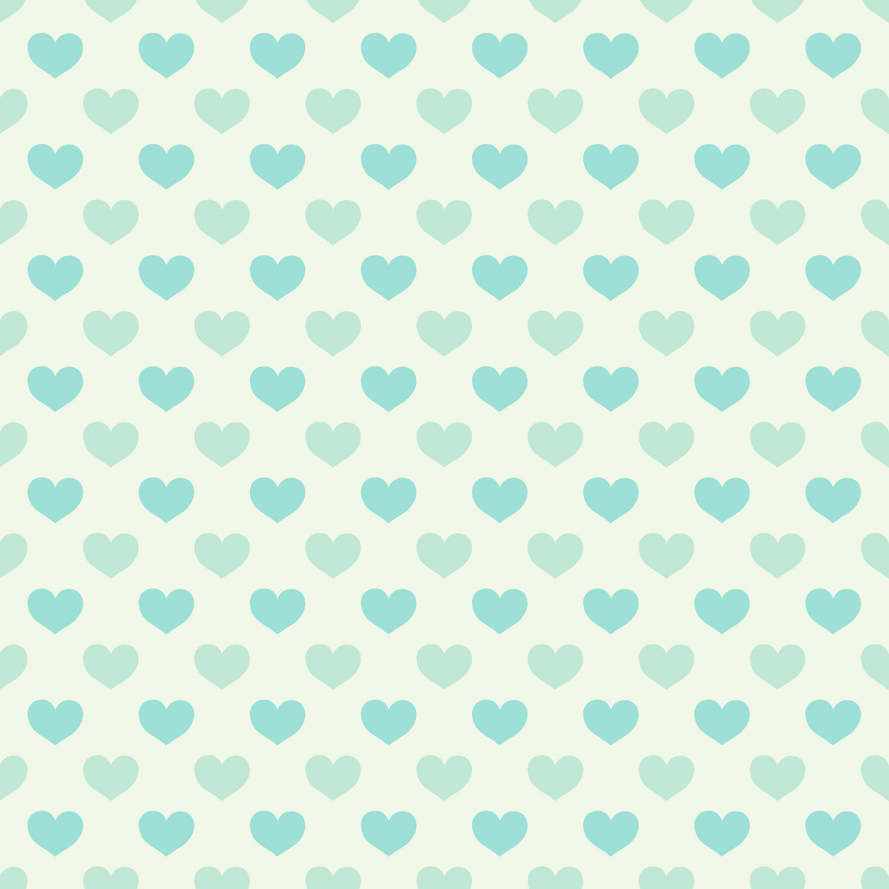 Blue And Grey Heart Pattern