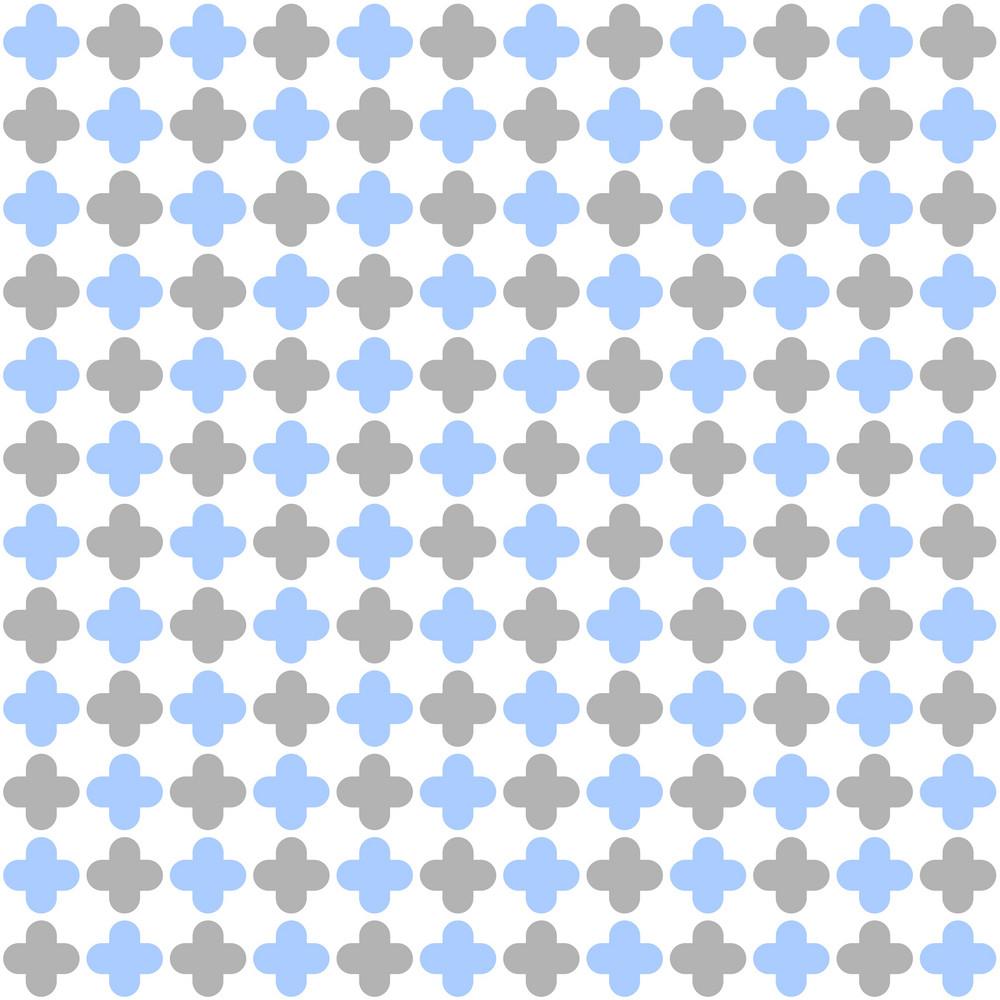 Blue And Purple Quatrefoil Pattern