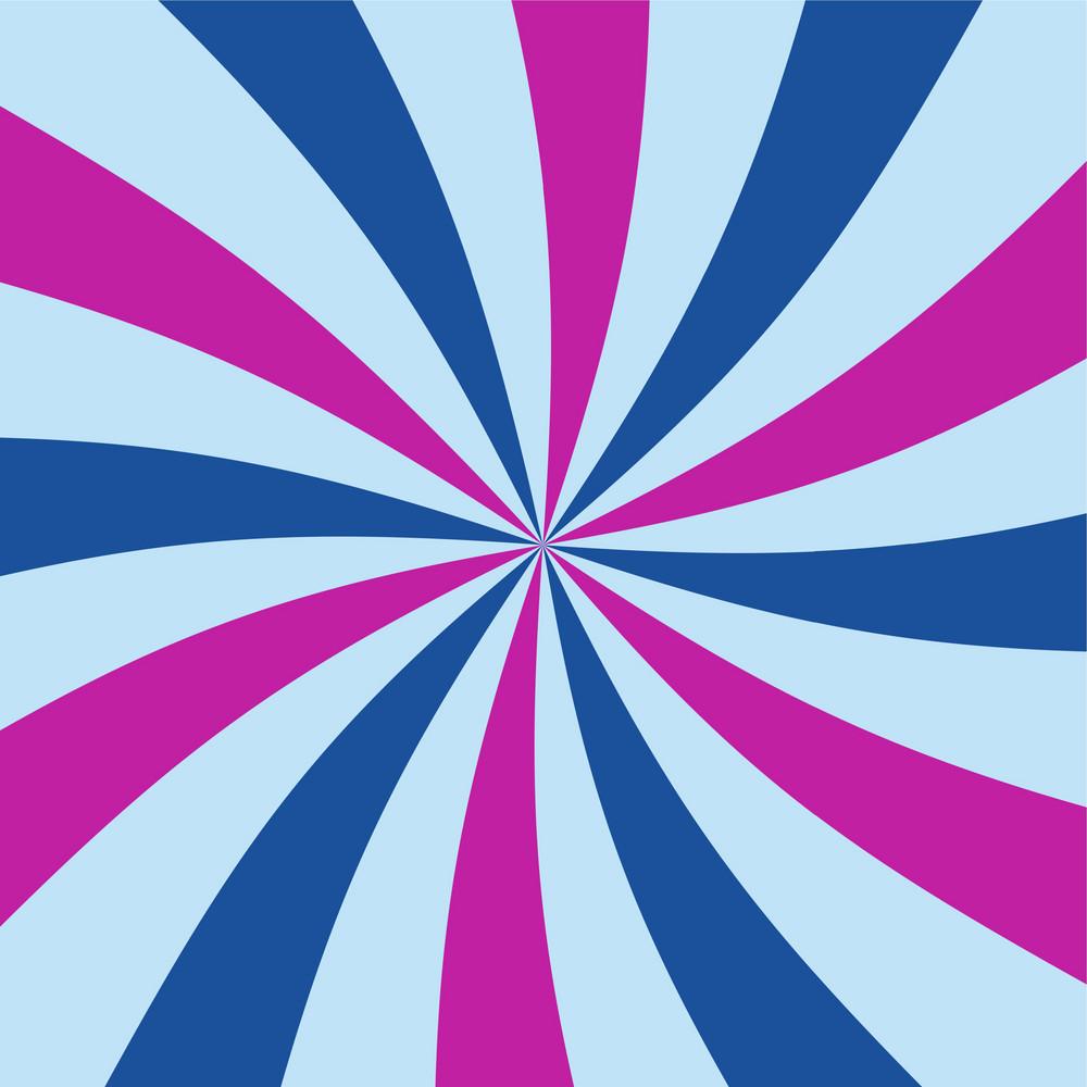 Blue And Purple Swirl Pattern On Frozen Inspired Paper