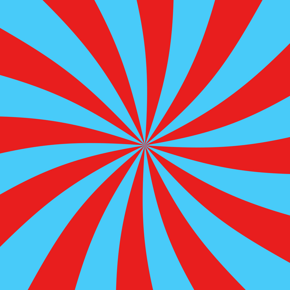 Blue And Red Swirl Pattern On Dr. Seuss Paper