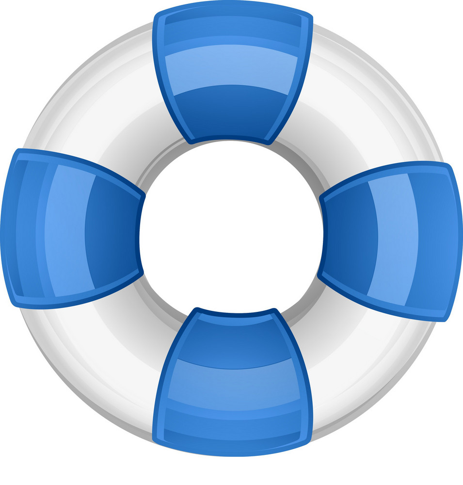 Blue And White Life Ring