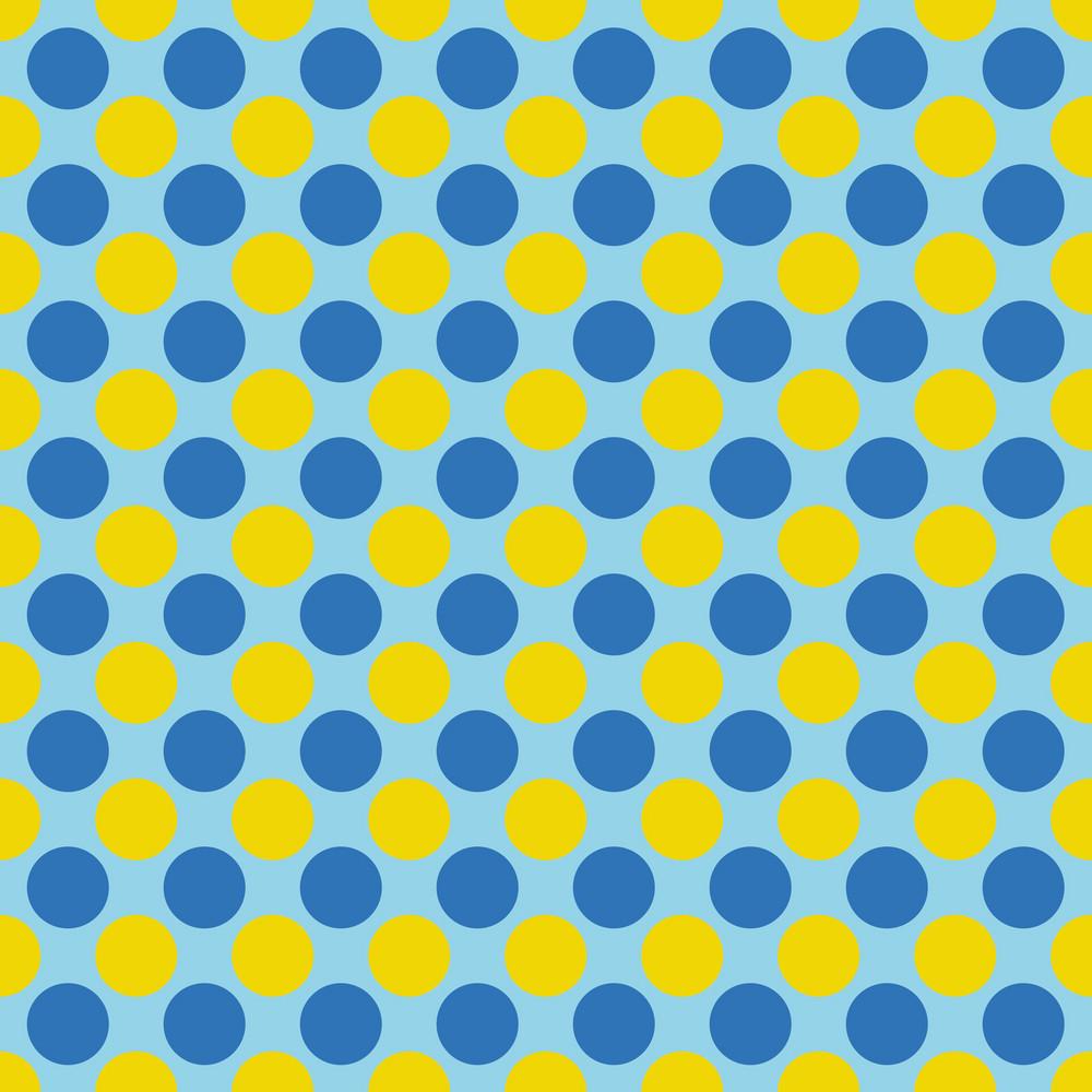 Blue And Yellow Polka Dots Pattern