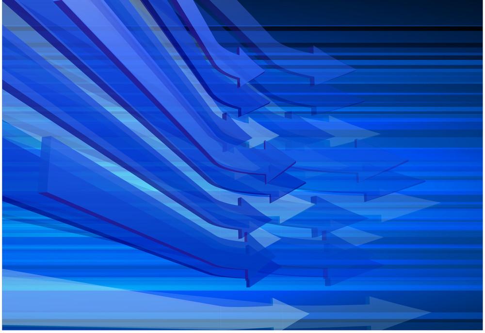Blue Arrow Motion. Business Vector Template.