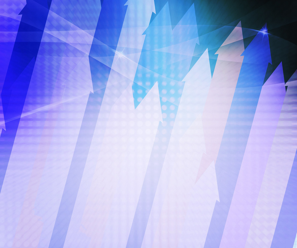 Blue Arrows Abstract Background