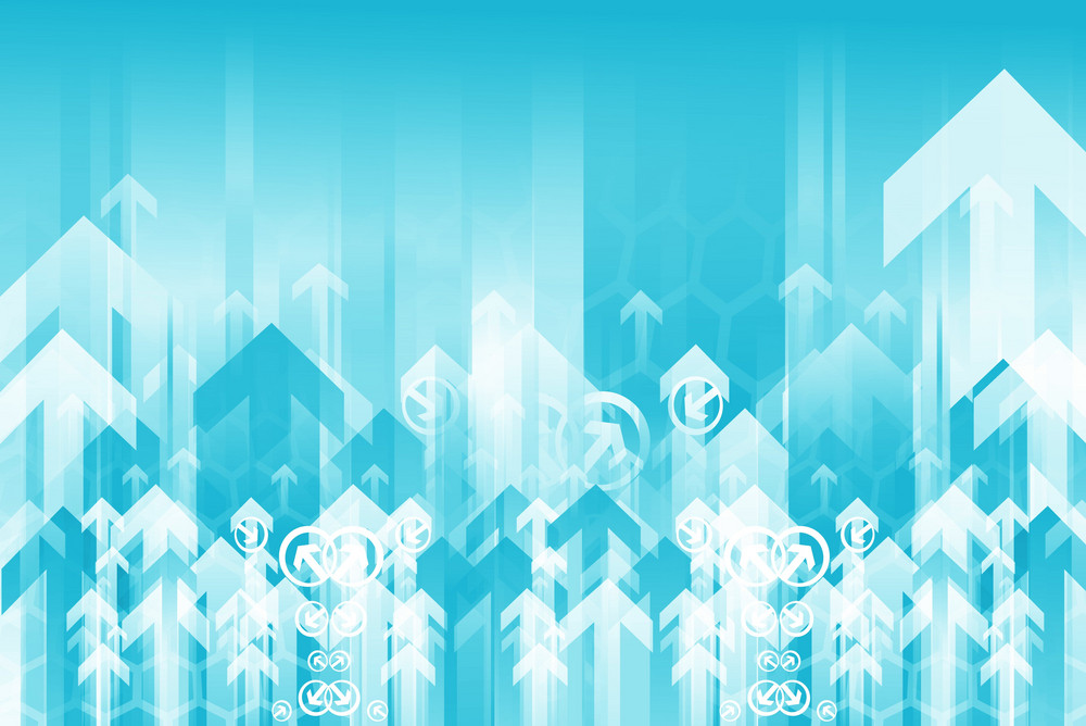 Blue Arrows Background