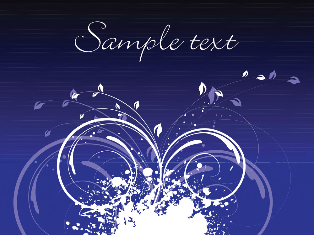 Blue Art Design Background