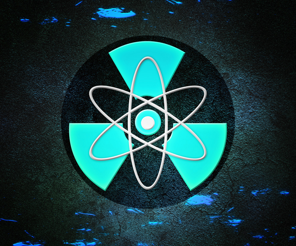 Blue Atom Radioactive Background