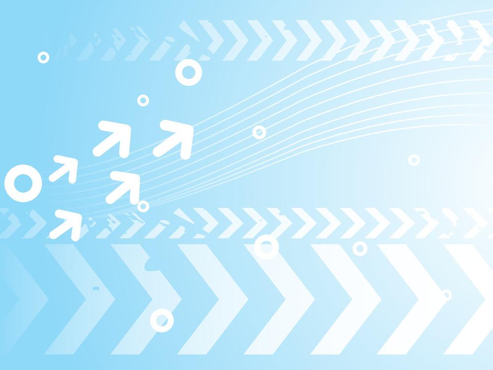 Blue Background With Arrow Halftone