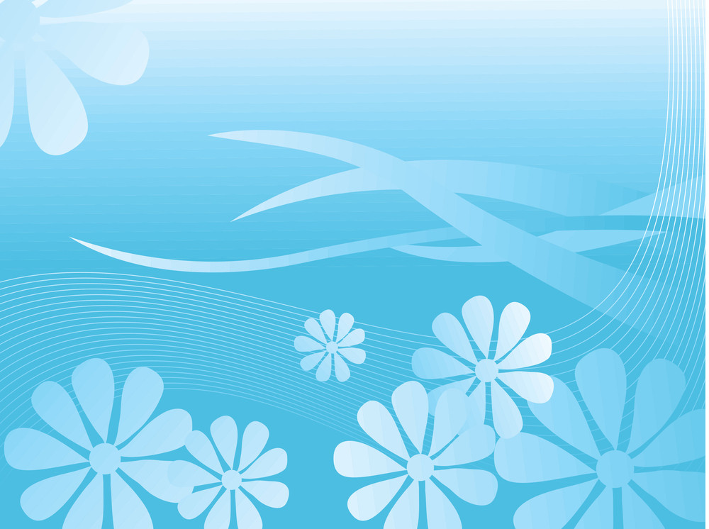 Blue Background With Wave
