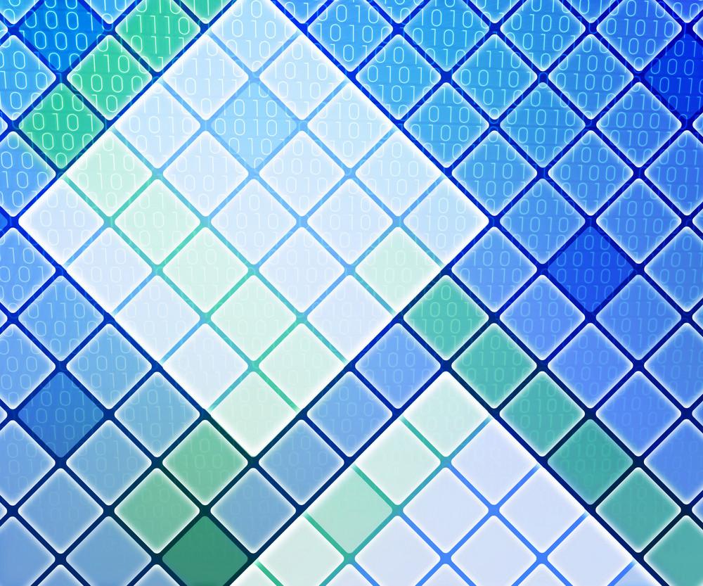 Blue Binary Data Background