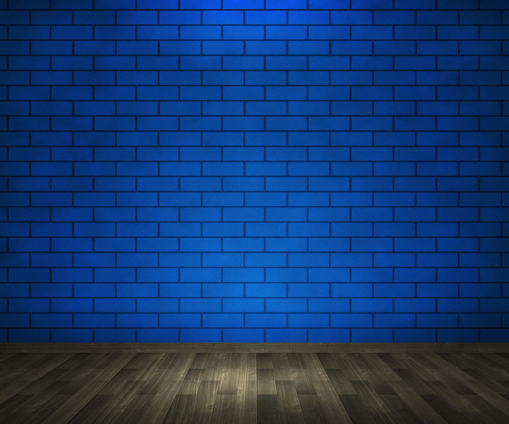 Blue Brick Interior Background