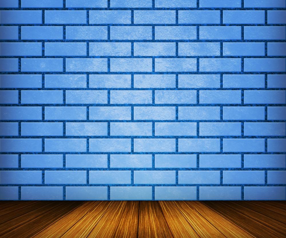 Blue Brick Room Backdrop