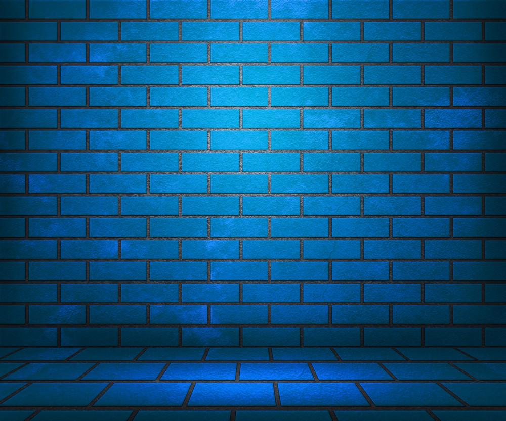 Blue Brick Stage Background