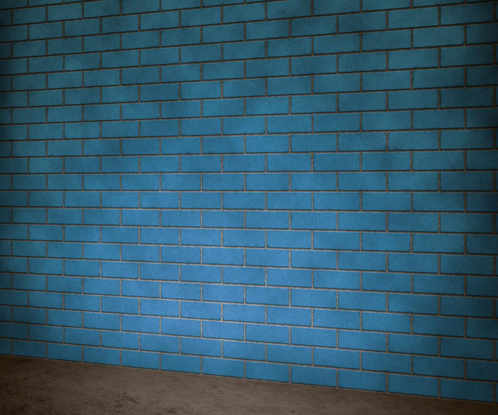 Blue Brick Wall Background