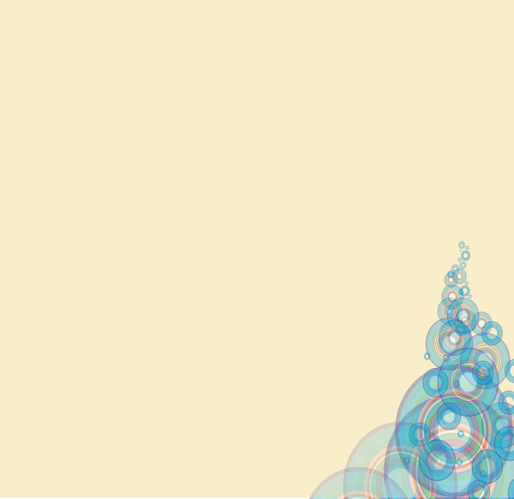 Blue Bubble Vector Background.