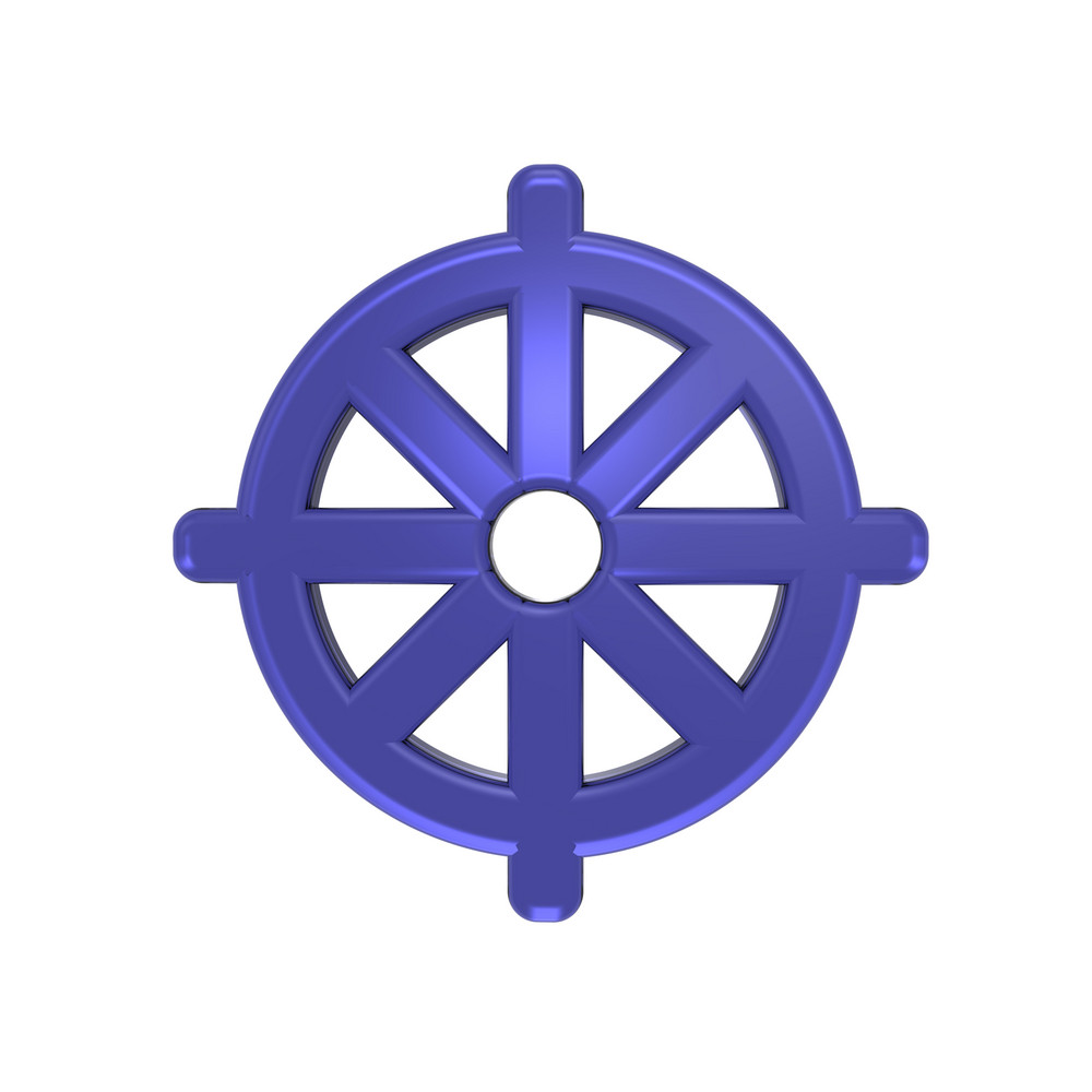 Blue Buddhism Symbol.