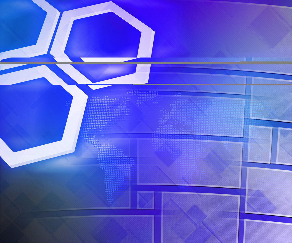 Blue Business Background Hexagon