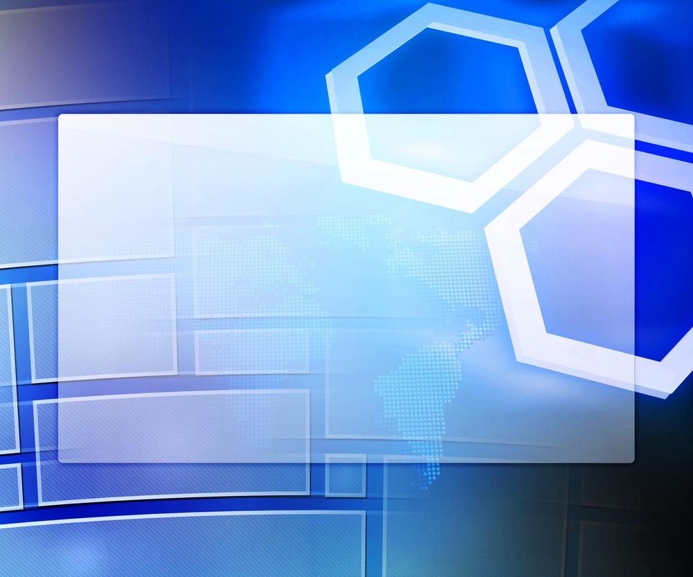 Blue Business Background Window