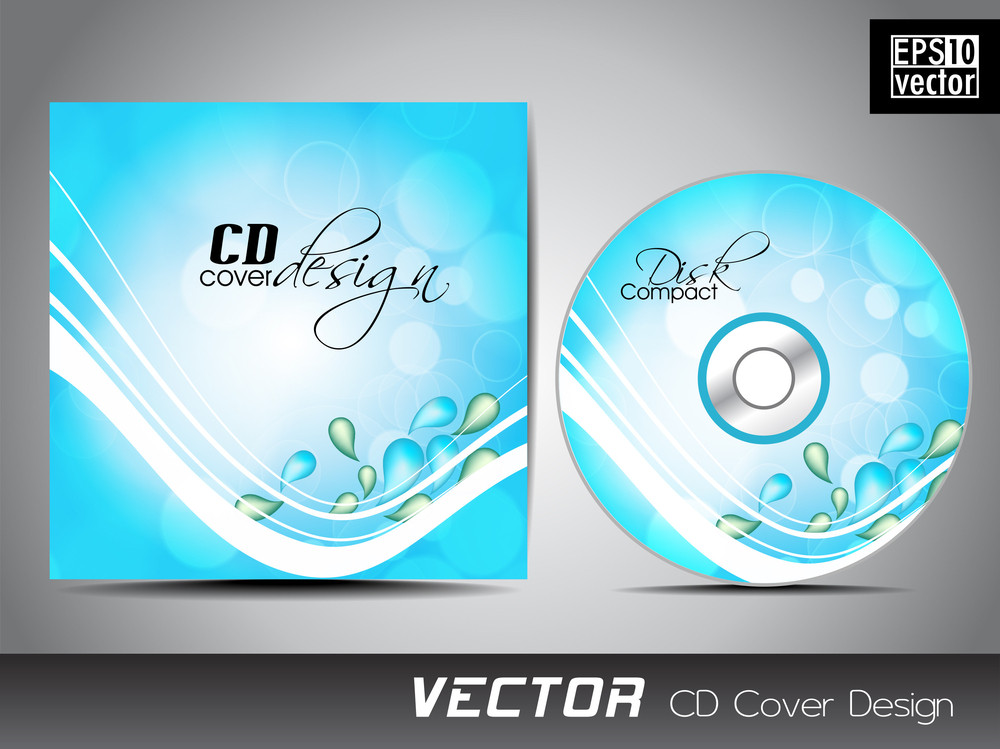 Blue Cd Cover With White Waves