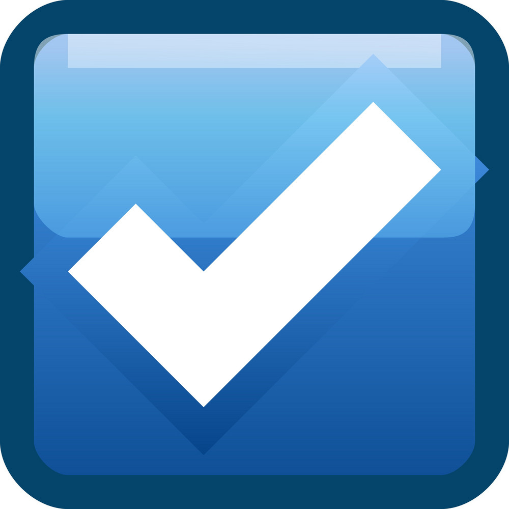 Blue Checkmark Tiny App Icon